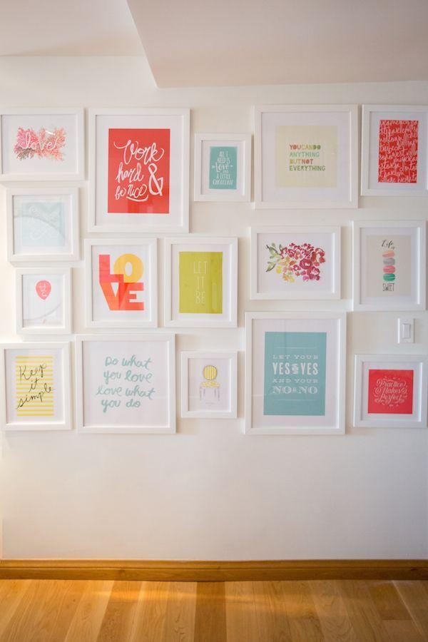 Decorar con l minas de frases en 2018 ideas de - Laminas para decorar paredes ...