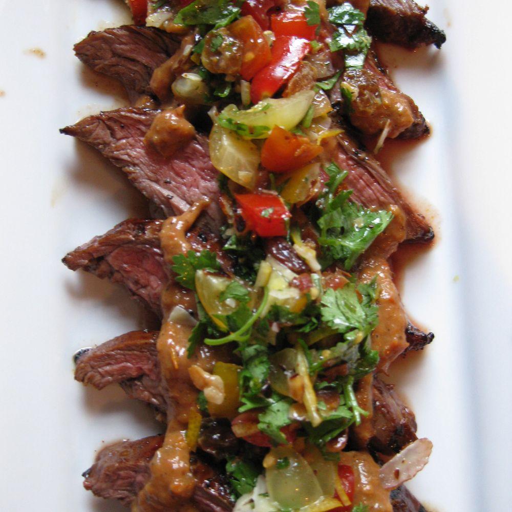 Cherry Tomato Curry with BBQ Flank Steak #recipesforflanksteak