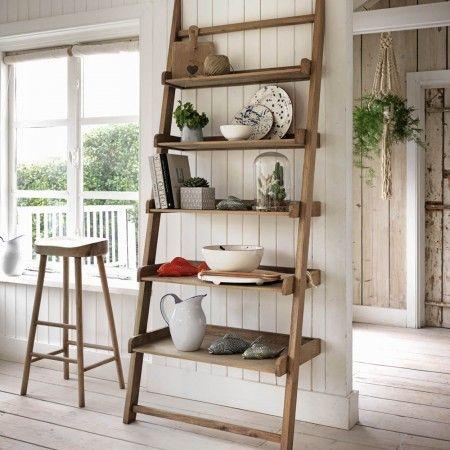 Weathered Oak Step Shelf Unit Step Shelves Kitchen Storage