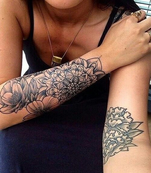 Slightly Edgy But Still Feminine Forearm Tattoo Women Tattoos