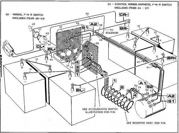 yamaha golf cart wiring relays