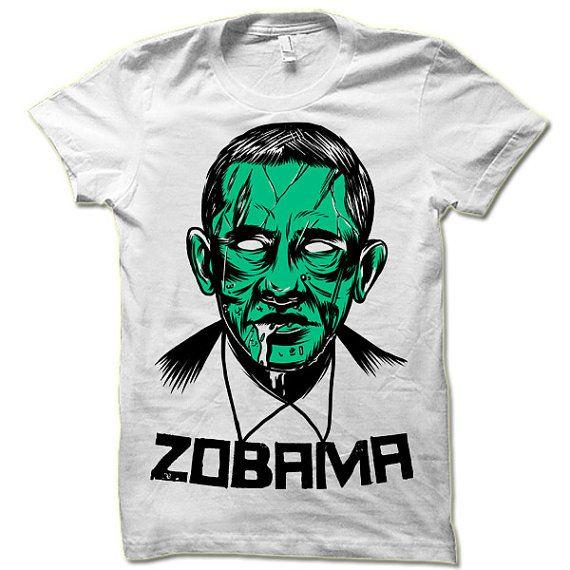 9258c8e7 Zombie Obama Halloween T Shirt. Funny Zobama Shirt. Halloween Gift ...