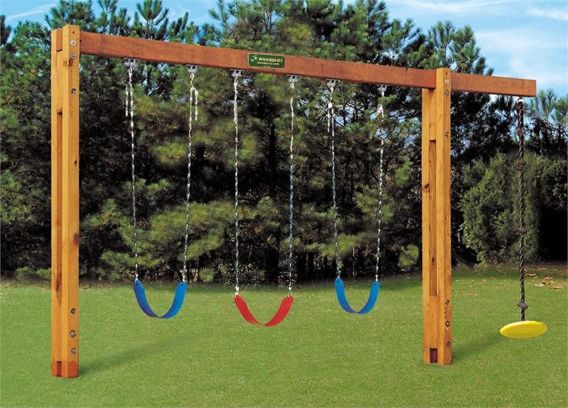 Cement in ground swing set 8 39 swing beam height for How to build a swing set for adults