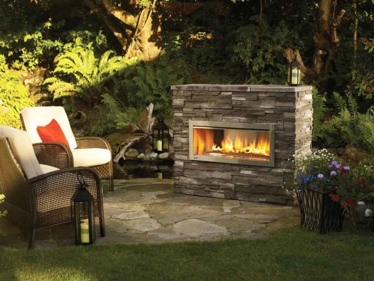Divine Practical Outdoor Gas Fireplace: Comely Outdoor Gas Fireplace ...