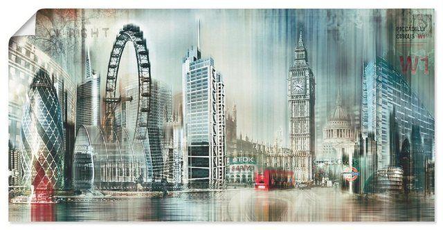 Kunstdruck Poster Nettesart London Skyline Abstrakte Collage 11