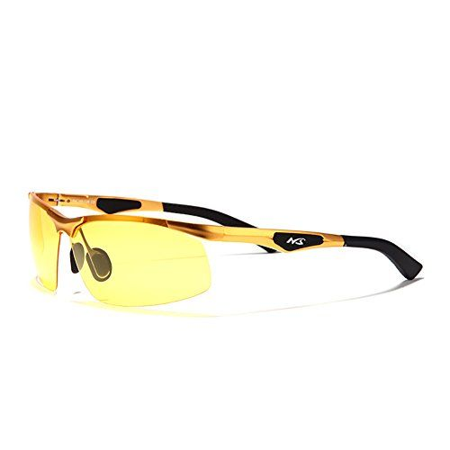 06e5a254d7 JUNSAM Polarized Professional HD Night Vision Glasses for Driving Gold    You can get additional details at the image link.