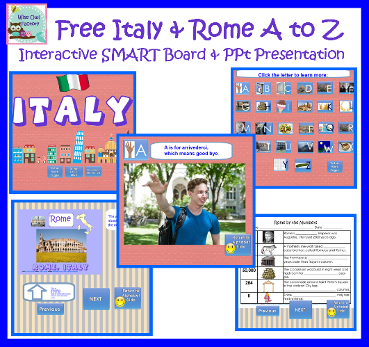 italy and rome a to z presentations free resources smart boards