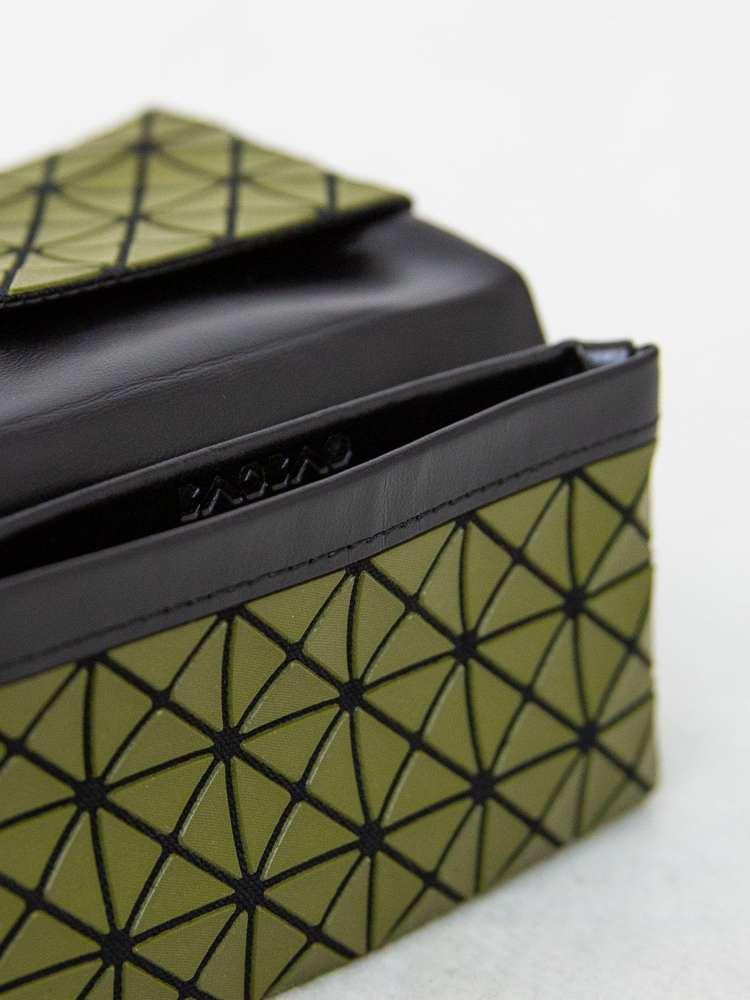 BAO BAO ISSEY MIYAKE Oyster Card Holder - Khaki  f3cfb04934c48