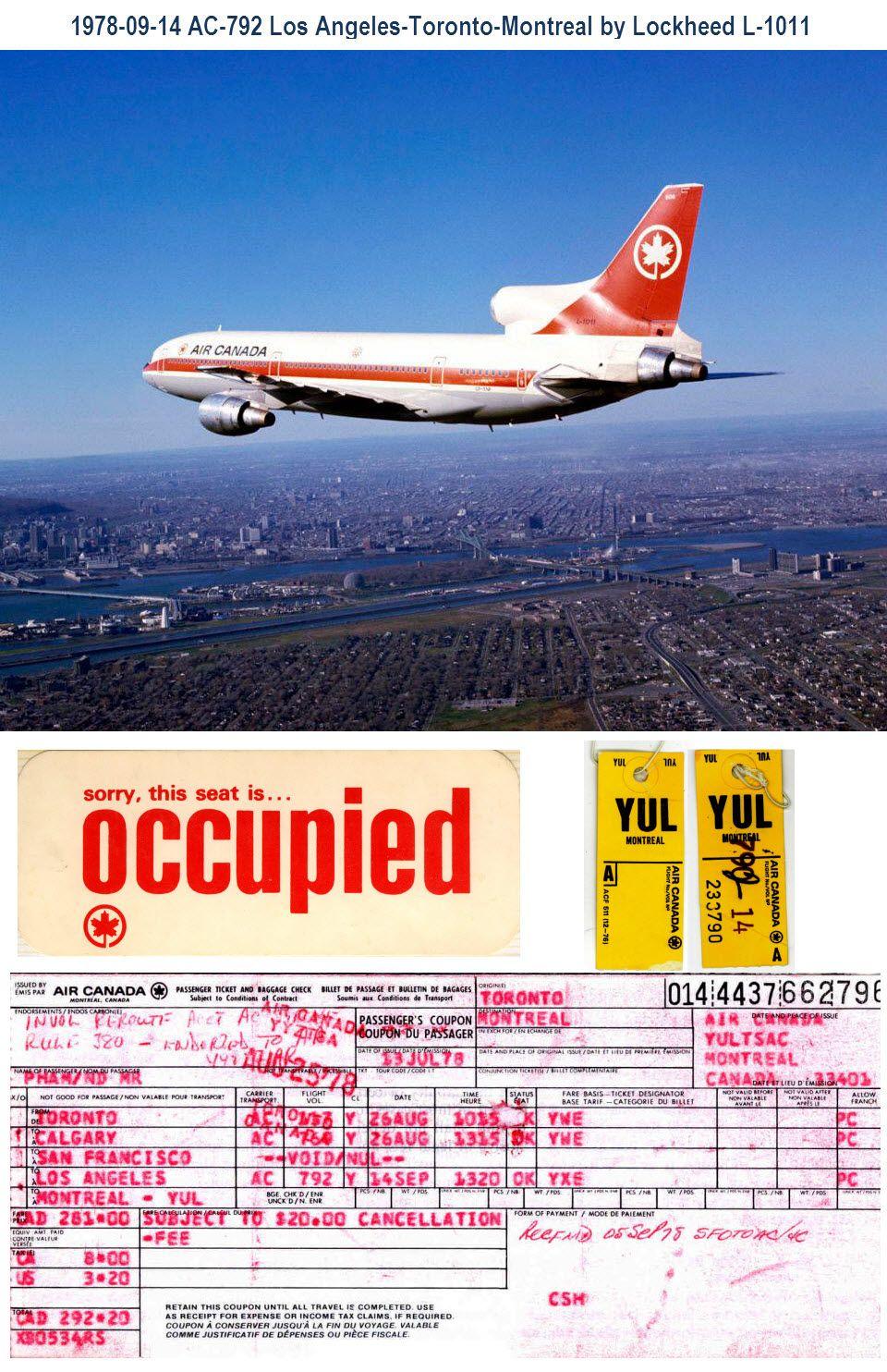 19780914 Air Canada flight AC792 Los Angeles LAX