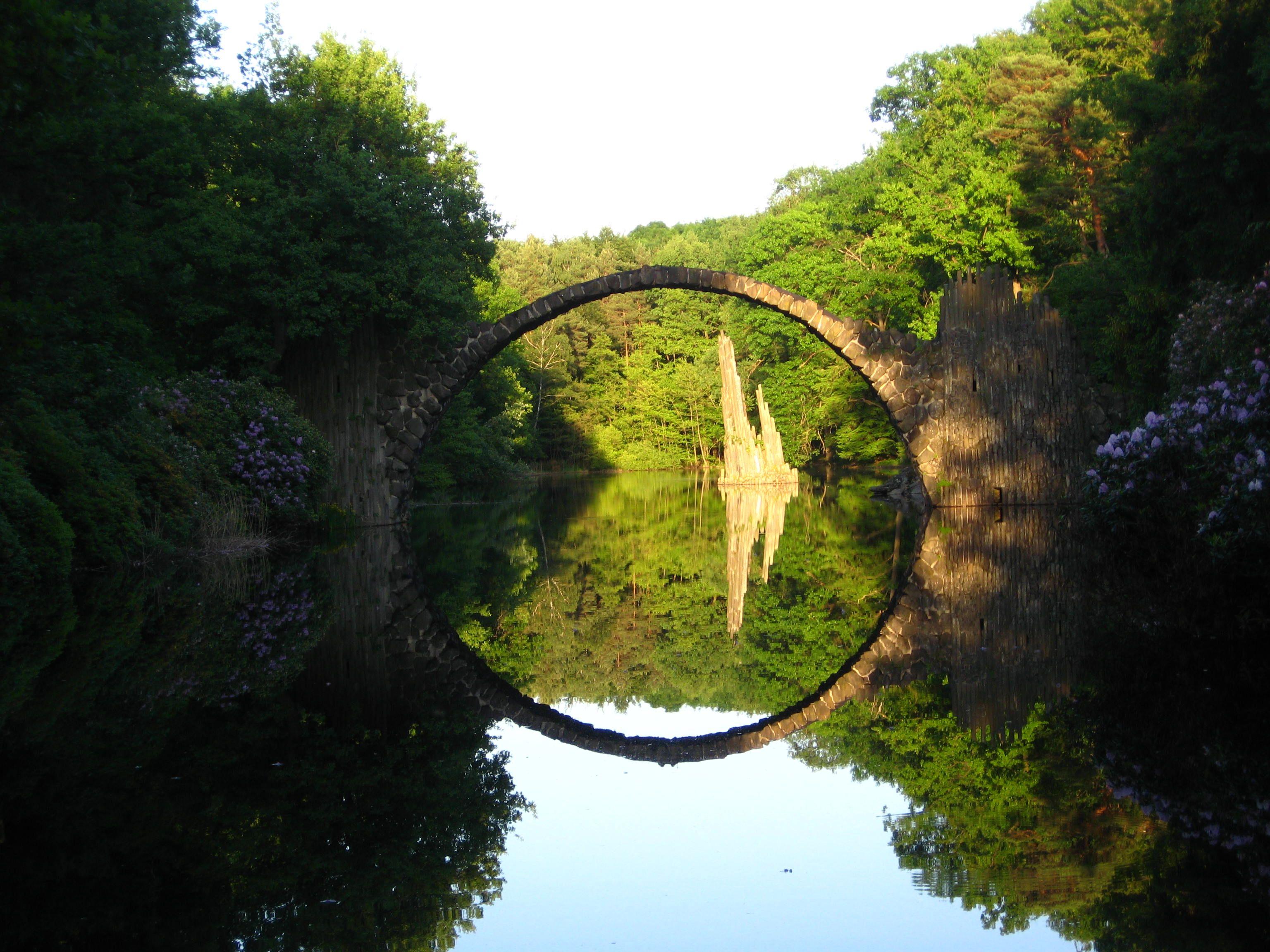 Rakotzbrücke, Duitsland #ikreisgraag