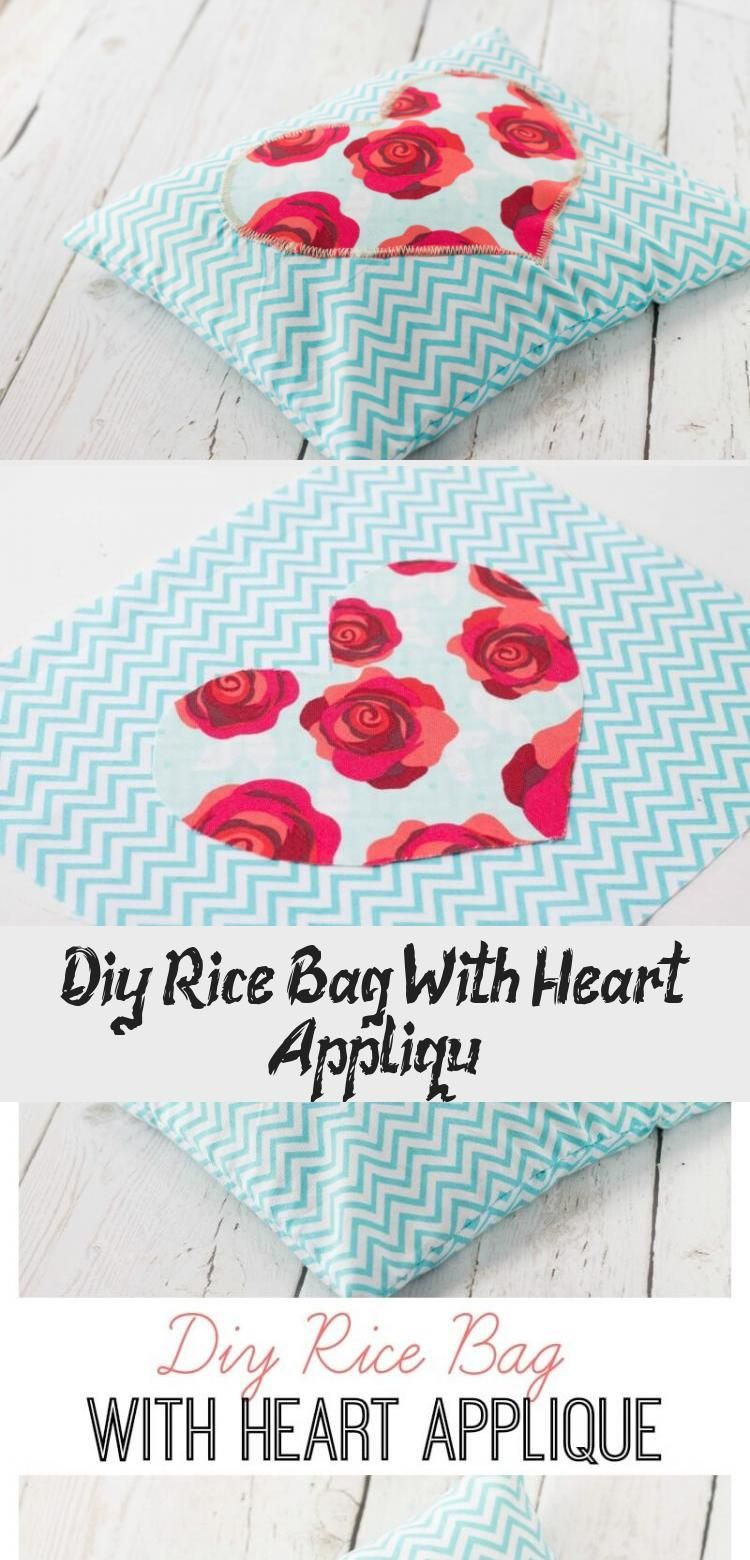DIY Rice Bag with Heart Appliqué by Made to be a Momma for