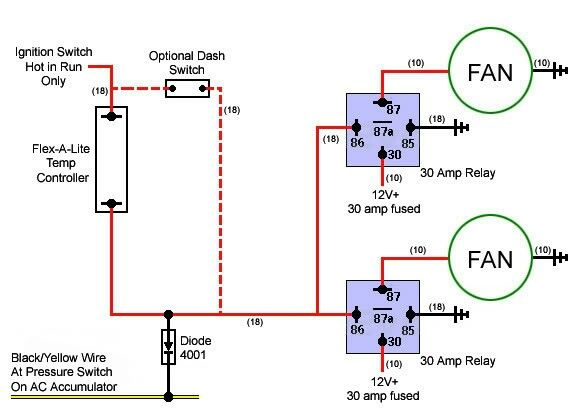 Cooling Fan Circuit 4 Electrical Circuit Diagram Electric Fan Electricity