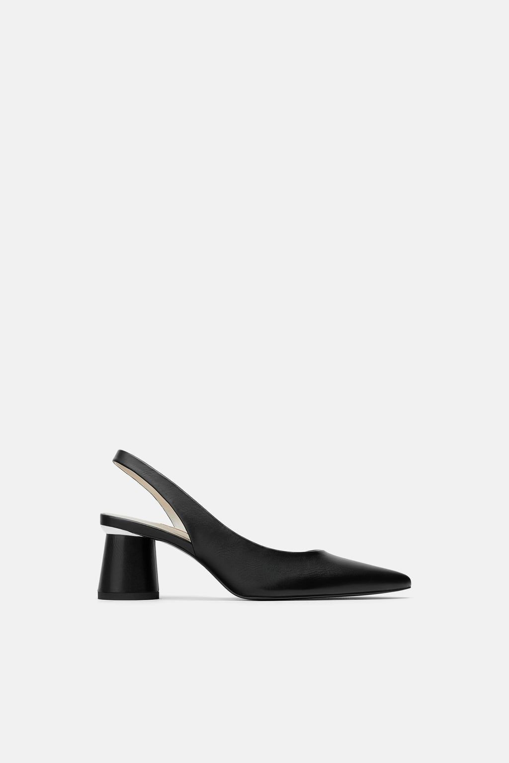 Faux Patent Leather Slingback Heels View All Shoes Woman Zara Turkey Heels Slingback Heel Patent Leather Heels