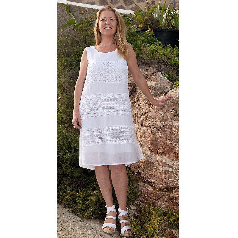 Vestido Ibicenco Tallas Grandes Vestidos Ibicencos Vestidos Blancos Vestido De Verano