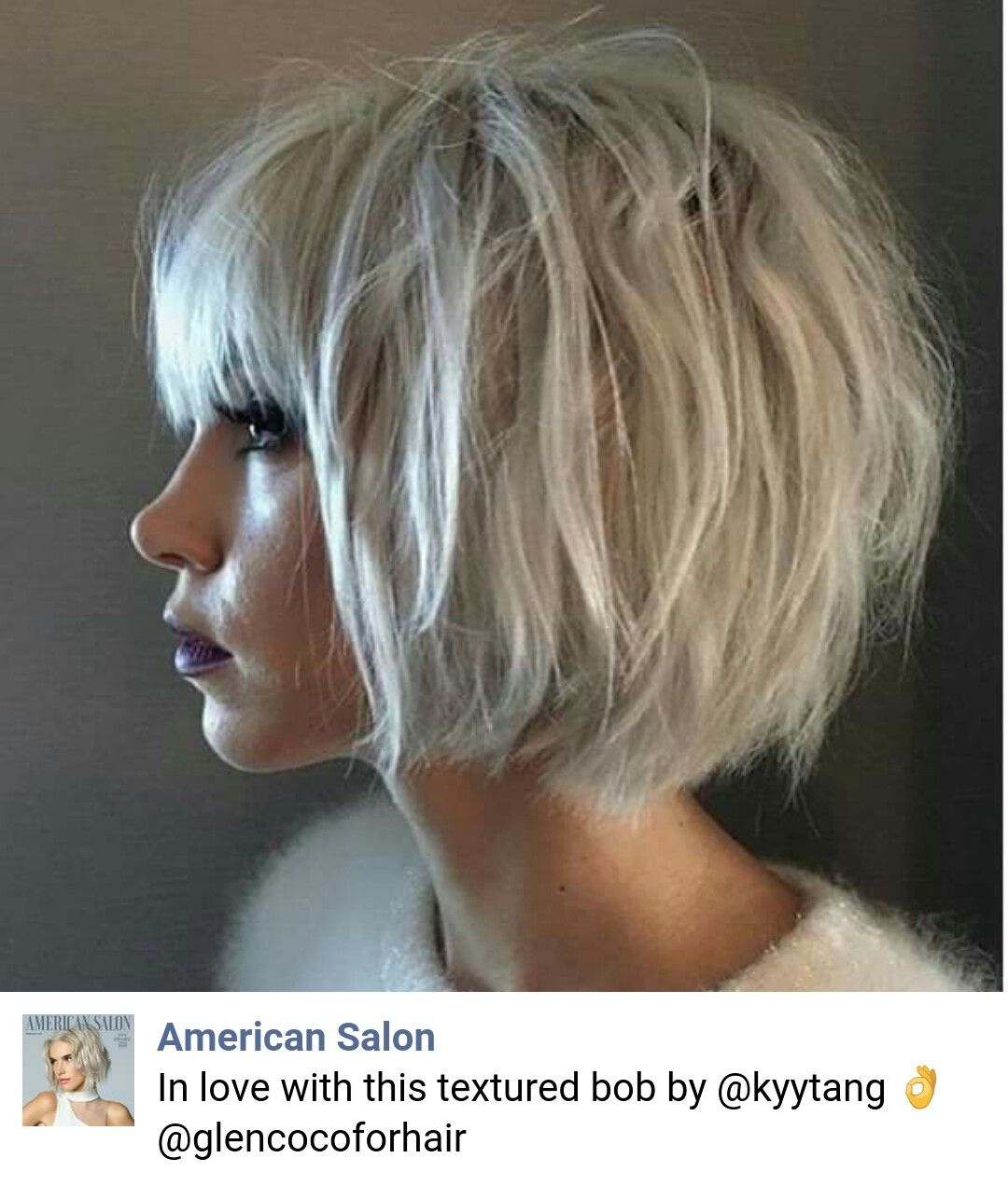 Pin by lisa stonehouse on locks pinterest textured bob bobs and