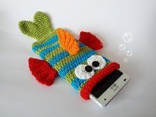 Photo of Crochet fish // cell phone case // for wool scraps, cell phone case fish, crochet pattern, PDF file …