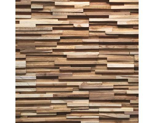 Pierre de parement en bois Ultrawood Teak Toscani Plaquette de