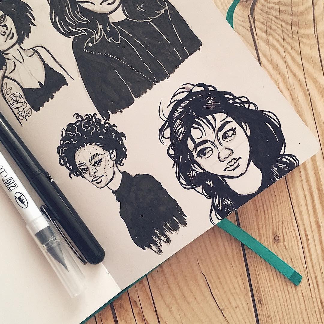 More pretty pinterest ladies illustration art drawing sketchbook