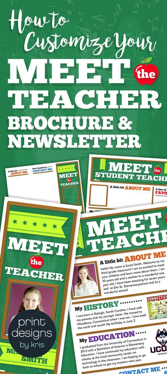 Easy To Use Customizable And Editable Files For Meet The Teacher