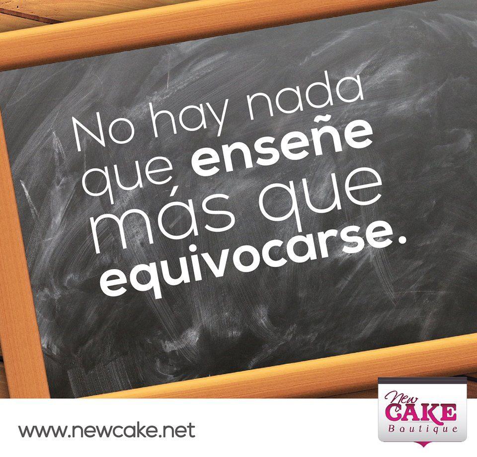 No hay nada que enseñe más que equivocarse.  www.newcake.net  #newcakeboutique #weddingcake #cakeart #marcoantoniolopez #cursoscakes #fashioncake