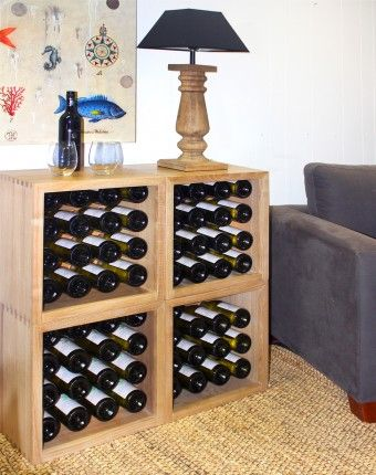 Wooden Wine Rack Furniture 2 X Furnished