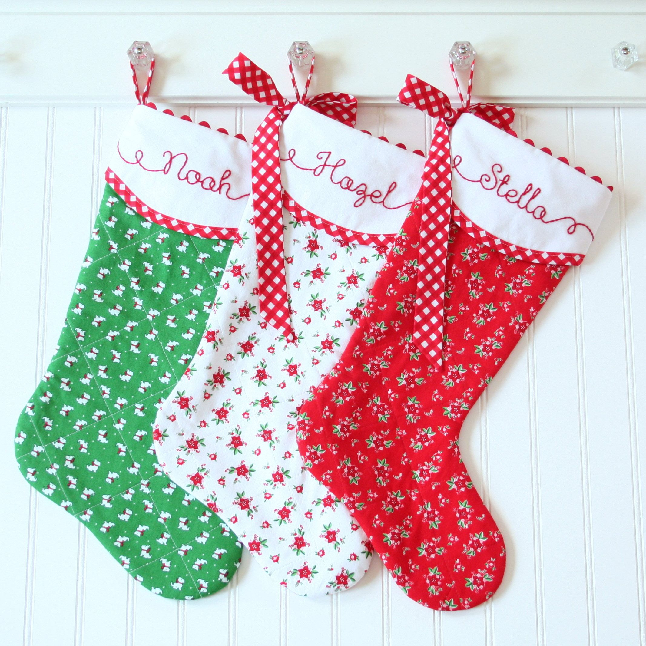 Christmas Stocking Personalized Christmas Stocking Hand
