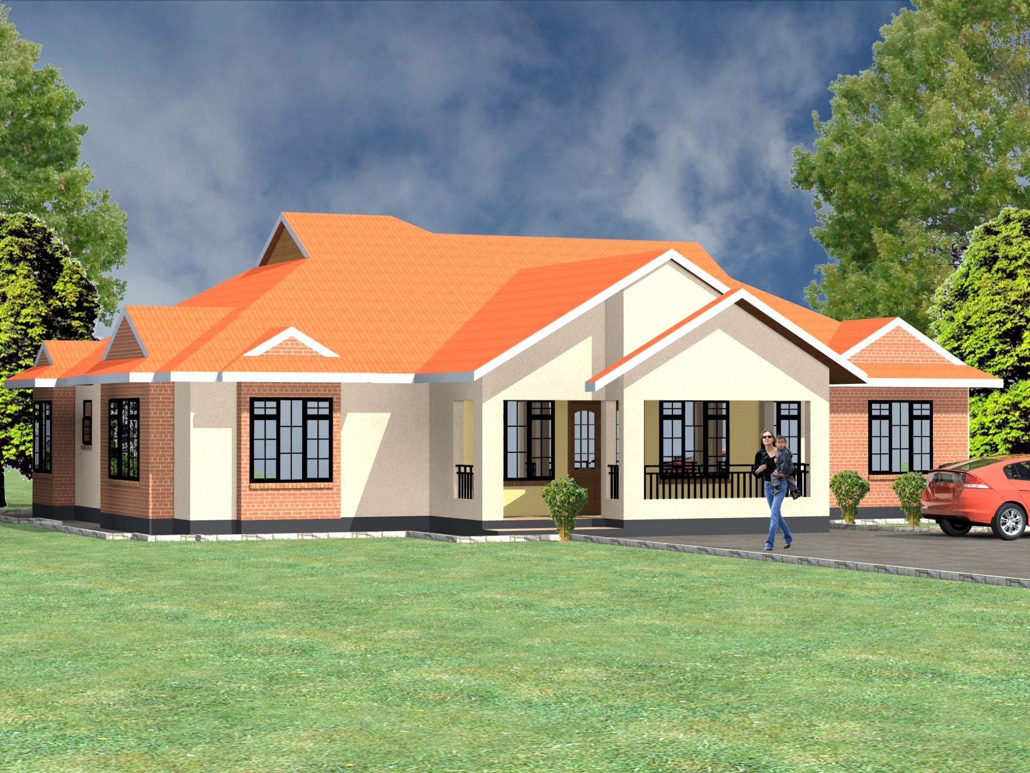 4 Bedroom Bungalow House Plans Beautiful Four Bedroom Bungalow House Plans In Kenya House Plans Beautiful House Plans Bungalow House Plans