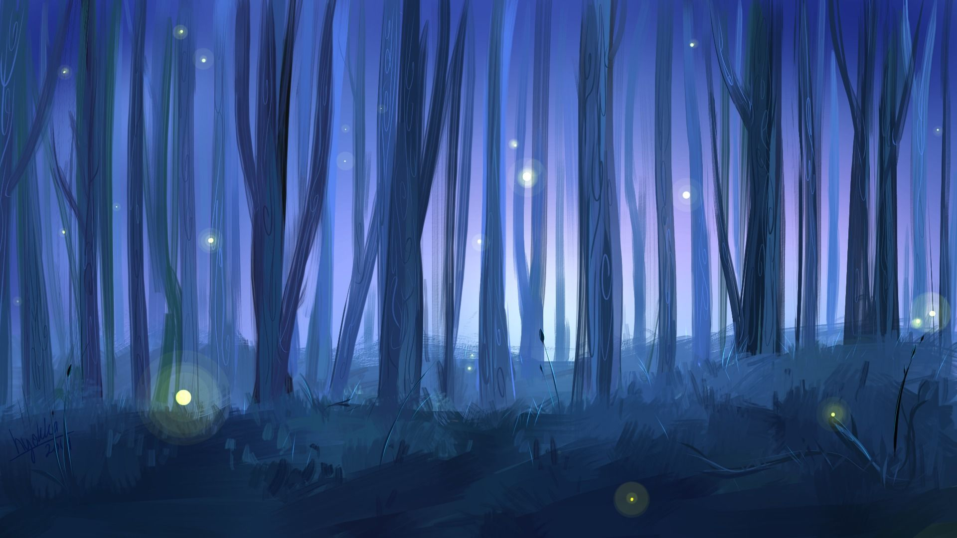 painting of fire flies Google Search Firefly art