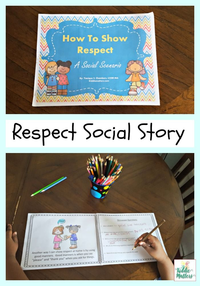 Teach Kids How To Be Respectful With This Social Story Can Be Used As Part Of A Cha Social Stories Teaching Social Skills Social Emotional Learning Activities