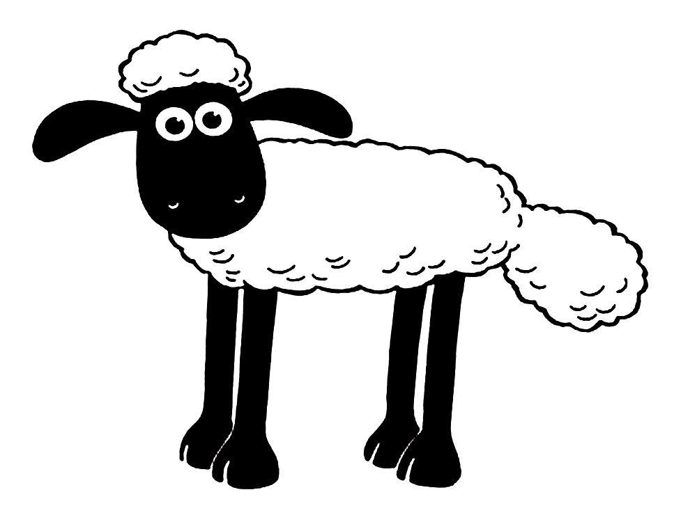 Imprimir imágenes dibujos para colorear - oveja Shaun, para niños y ...