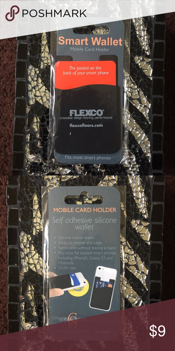 Smart Wallet Mobile Card Holder Silicone wallet, brand new Flexco Accessories Key & Card Holders