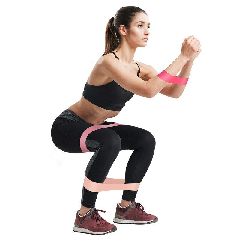 Power Heavy Duty Resistance Loop Bands Elastic Strength Yoga Fitness Exercise US
