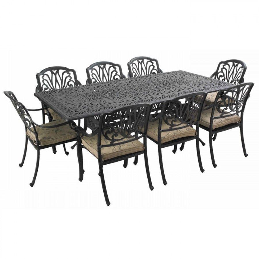 hartman amalfi 8 seater garden furniture set charlies direct - Garden Furniture 8 Seater Metal