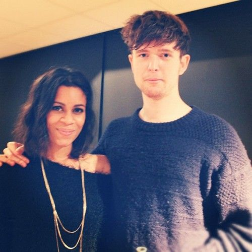 Aluna from AlunaGeorge and James Blake from... James Blake.