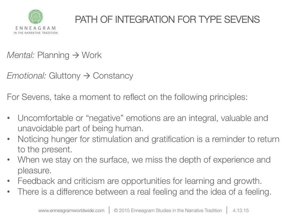 Path of integration for type sevens Enneagram 7 Pinterest - acceptance letters pdf