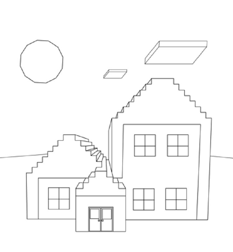 Minecraft Coloring Pages House Minecraft Coloring Pages House Colouring Pages Coloring Pages