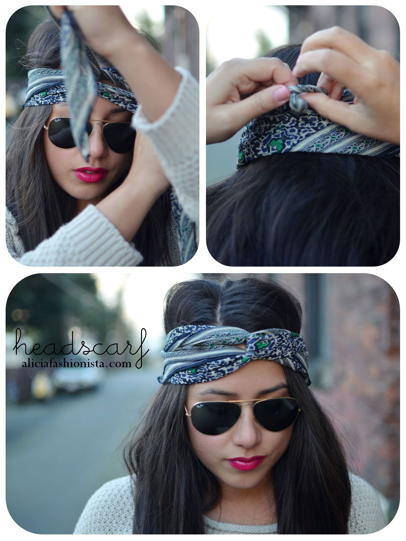 how to tie a headscarf: 10 brilliant ideas from pinterest