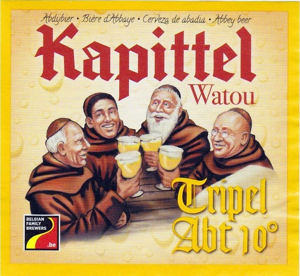 Het Kapittel Watou Abt, Abbey Tripel 10,0% ABV (St. Bernardus Brouwerij, Bélgica) #label
