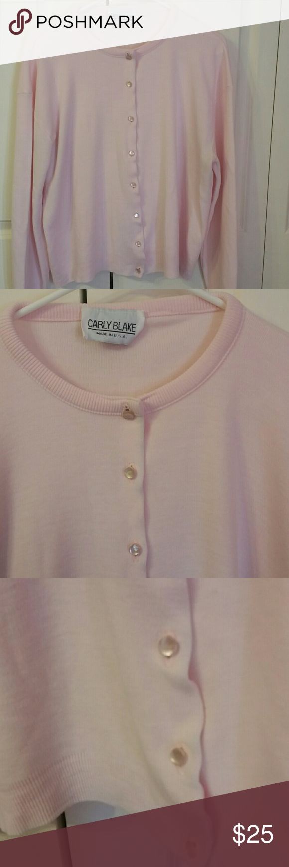 PRETTY IN PINK! Gorgeous perfect light shade of pink button down sweater,  Excellent condition and quality!  Super comfy and soft Tops