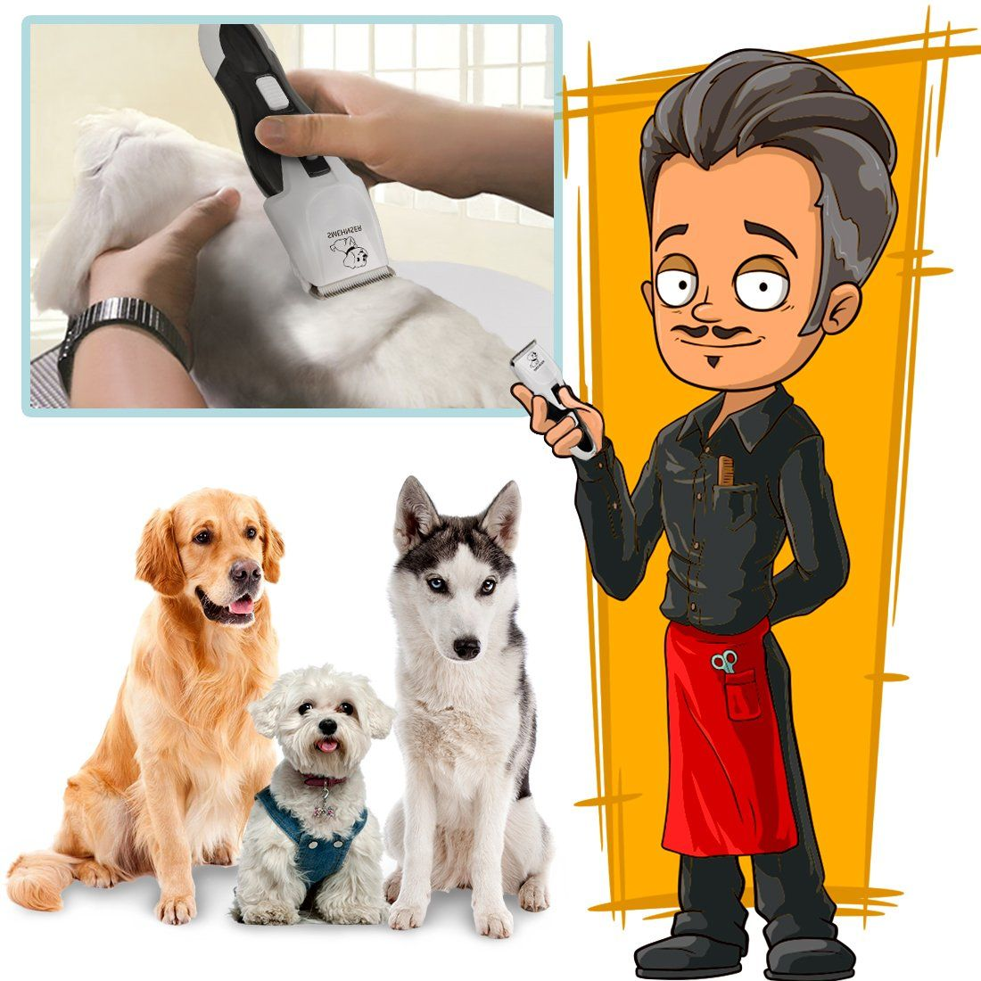 Pet Grooming Clippers Professional Low Noise And Rechargeable Cordless Clipper For Dogs And Cats Electric Dog Grooming Dog Grooming Tools Dog Grooming Clippers