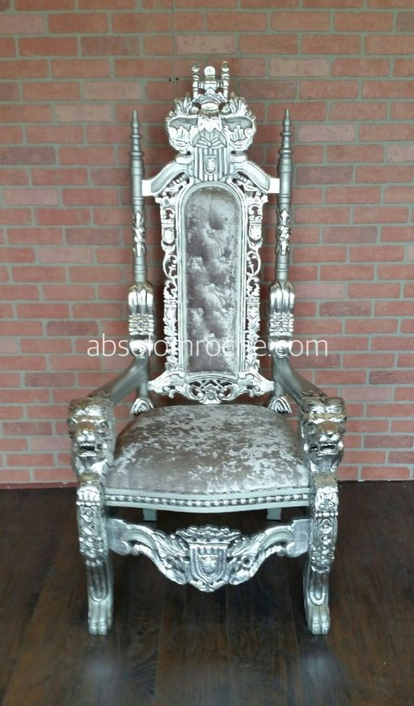 Clearance Lord Raffles Lion Throne Chair Silver Silver