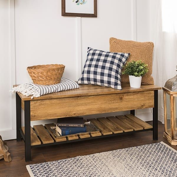 Miraculous 48 Inch Open Top Storage Bench With Shoe Shelf First House Uwap Interior Chair Design Uwaporg