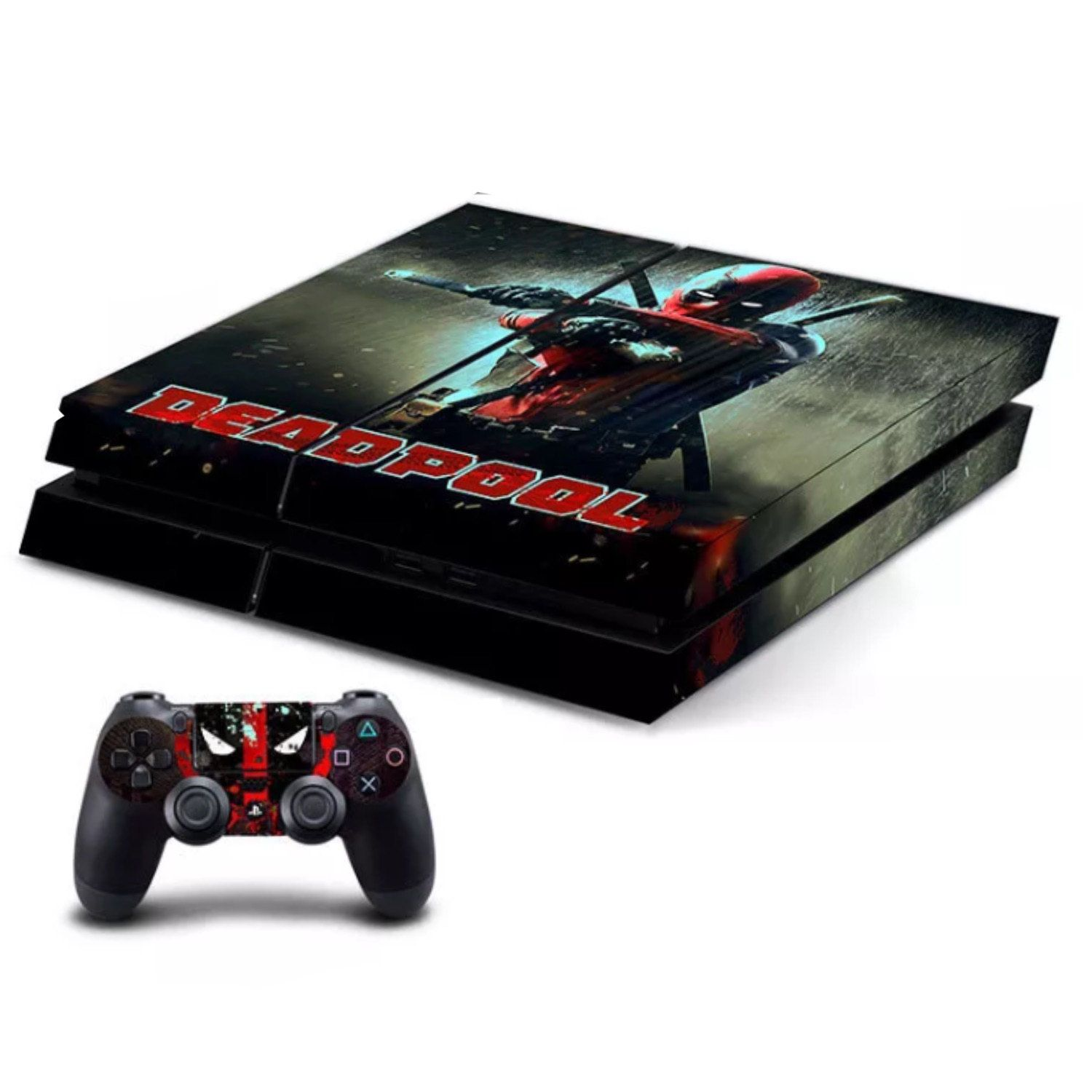 Skin Ps4 Pro Skull Dead Limited Edition Glossy Vinyl Decal Cover High Safety