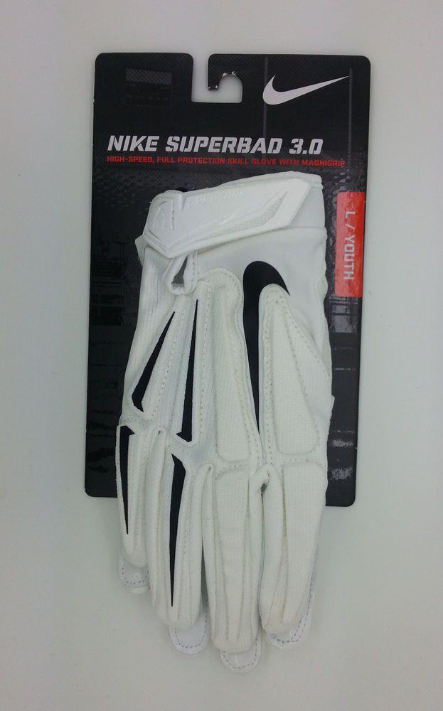 Nike Superbad 3 0 Magnigrip White Football Gloves Pair Youth Large