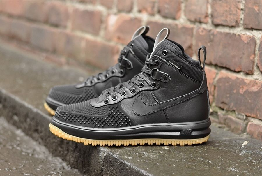 new style beab6 88098 NIKE LUNAR FORCE 1 DUCKBOOT BLACK WHEAT GUM 805899 003 190