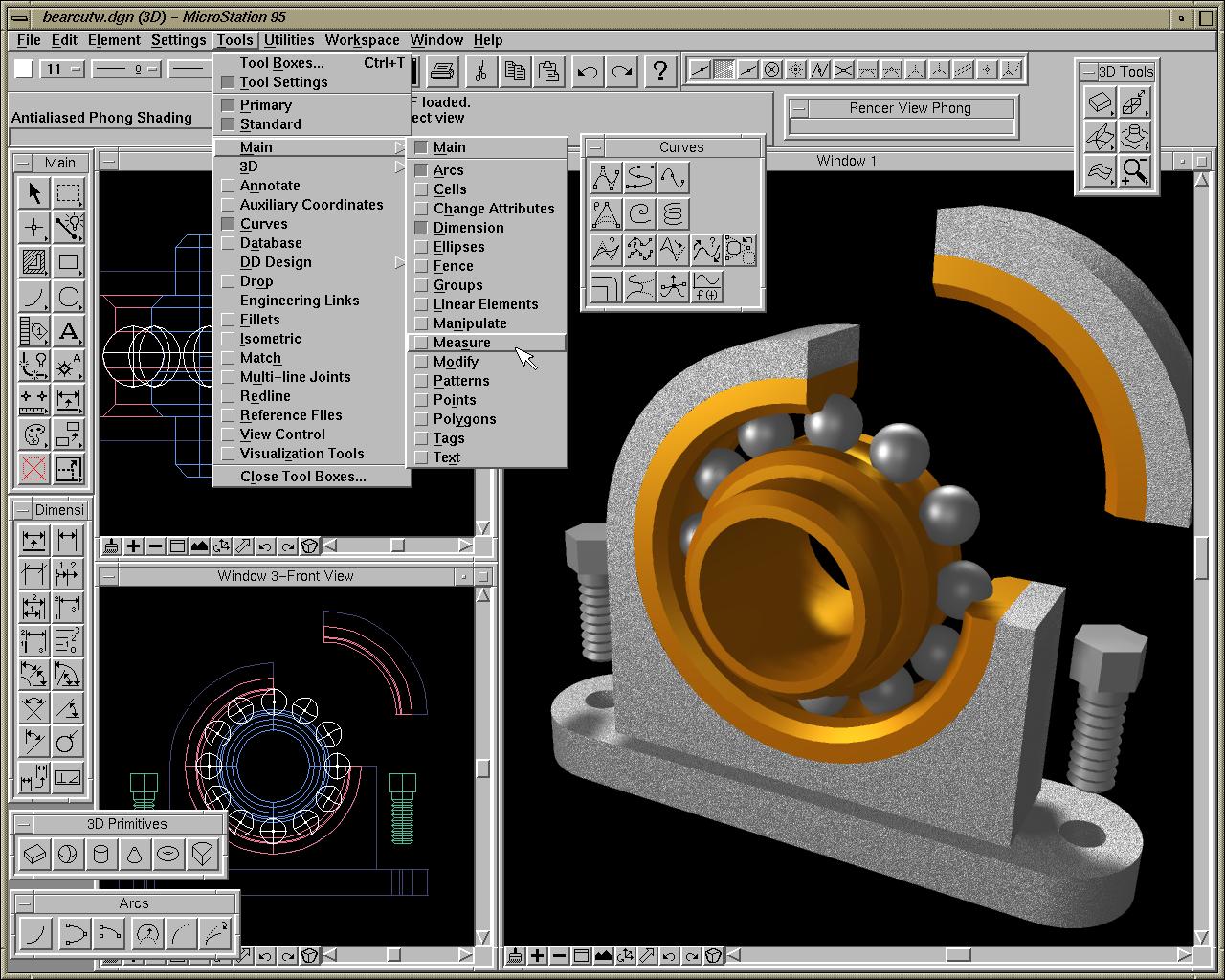 Bentley MicroStation 95 | Design 3D Engineering Modeling