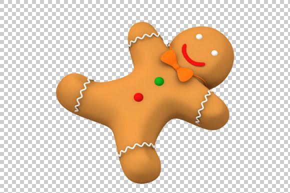 Gingerbread Man 3d Render Png Gingerbread Man Festival Design Png