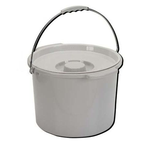 Commode Pail With Lid 12 Quart Bedside Commode Medical Supplies Commode