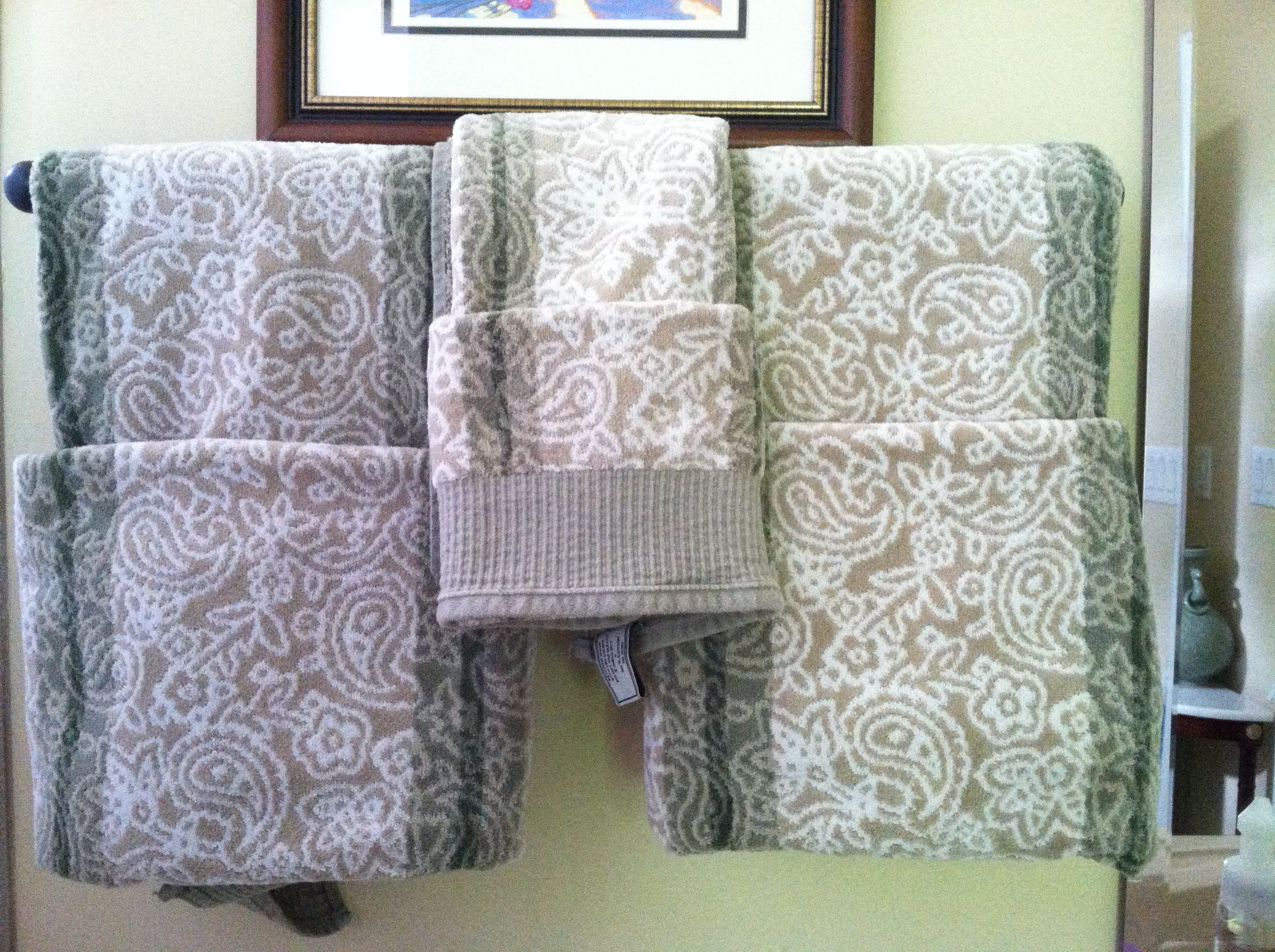 Fold towels in guest bathroom or any bathroom in general for Bathroom towel decorative folds