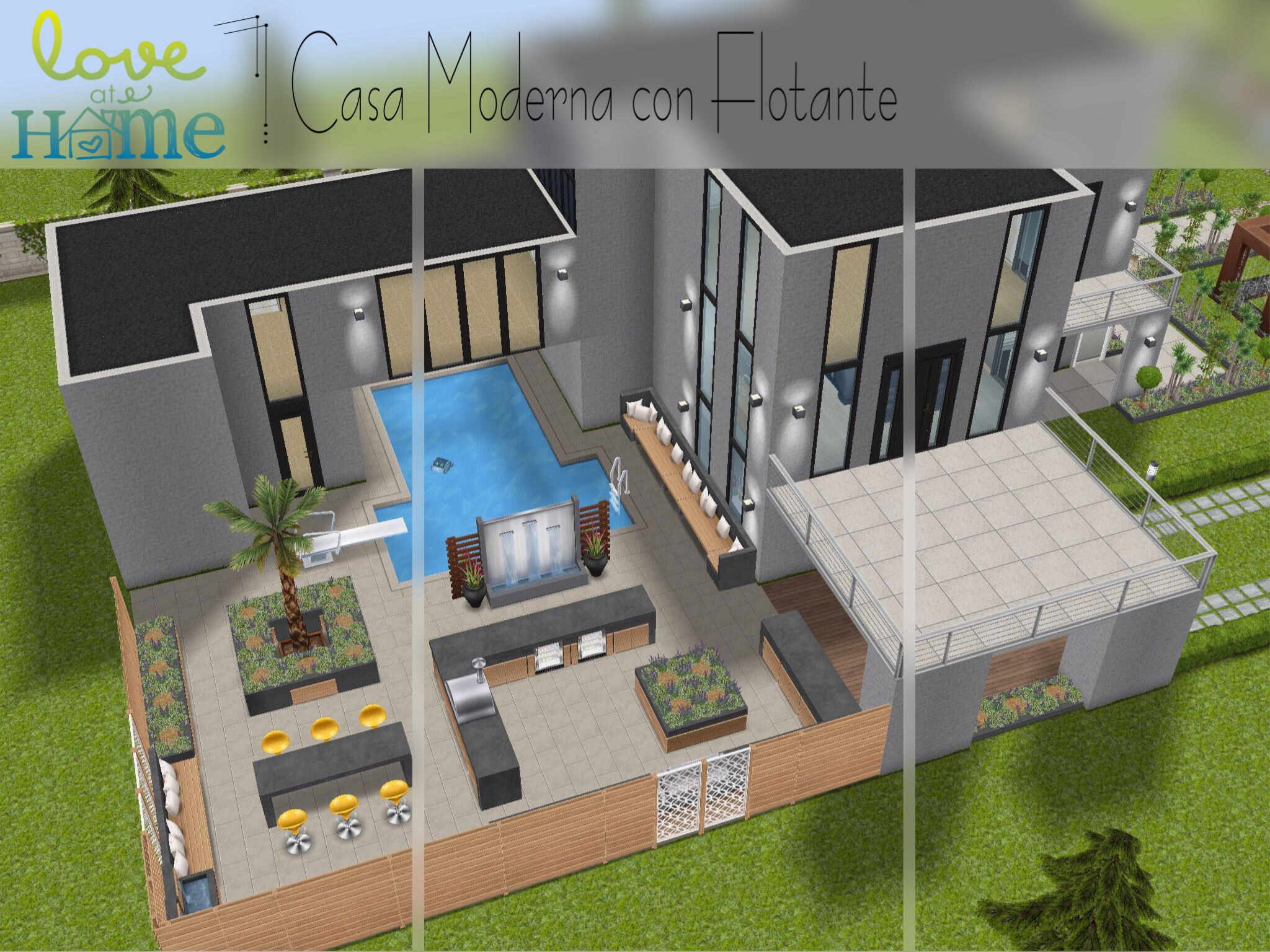 Verdieping Sims Freeplay Casa En Solar Grande Con Flotante Sin Hack The Sims Freeplay